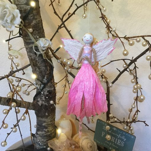 fairy feather angel pink front view