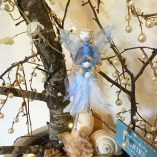 fairy feather angel blue front view