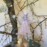 star angel pink and silver