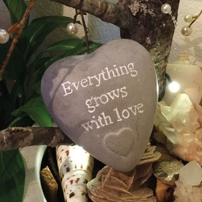 everything grows with love fairy stone