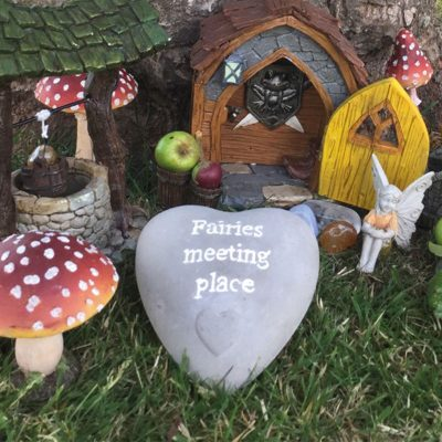 fairies meeting place heart shaped stone