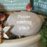 fairy meeting place on oval stone
