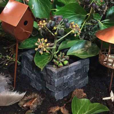 stone planter brick effect