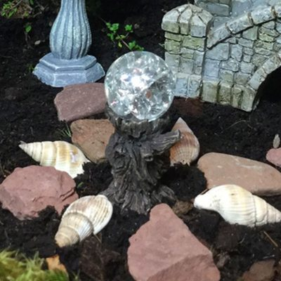 fairy accessory tree stump gazing crystal ball