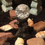 fairy accessory tree stump gazing crystal ball