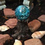 fairy accessory tree stump gazing blue ball
