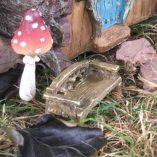 fairy accessory rustic bench