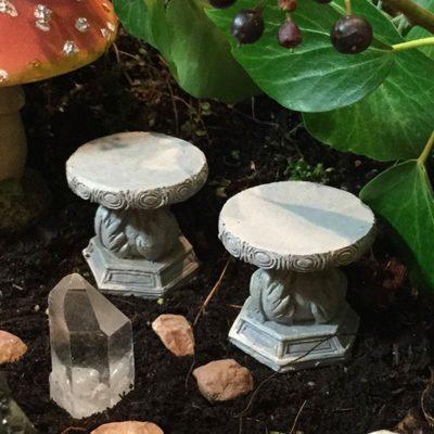 fairy accessory stone stools